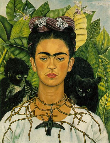 Kahlo self portrait with monkeys