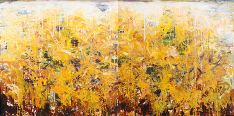 Silve Yellow Rapture 96x48