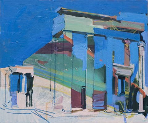 Untitled ( Temple ) by Sarah Awad, oil on canvas, 24x20