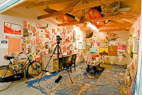 Studio of artist Thomas Campbell
