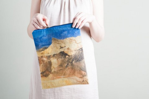Desert Mountains Fold Over Clutch by Lee Coren