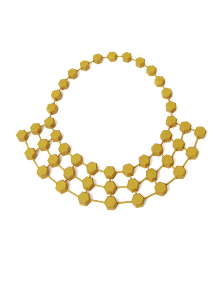 Hexagon Rays Necklace by Alissia Melka-Teichroew