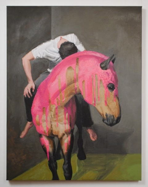 Figure with Painted Horse by Russ Noto