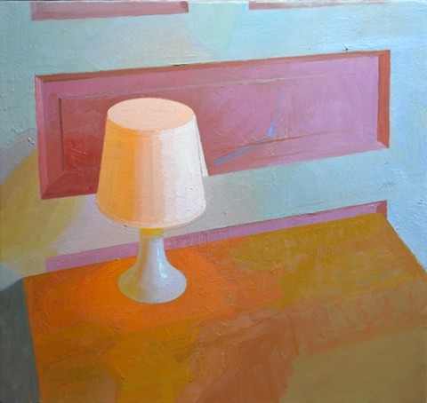 Ikea Lamp, oil on panel, 30x36