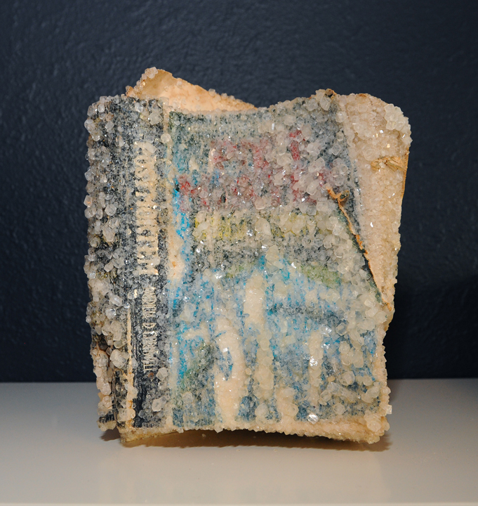 Arnold_Post Mortem_book, borax crystals_7x9x5