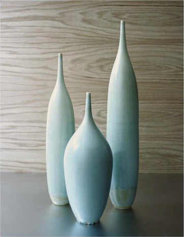 Blue Green Stoneware Bottles by Sara Paloma