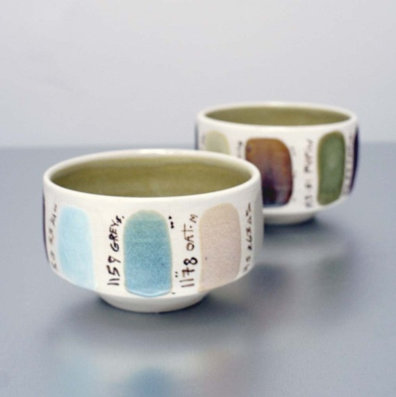Paint Sample Glaze Test Cup by Sara Paloma