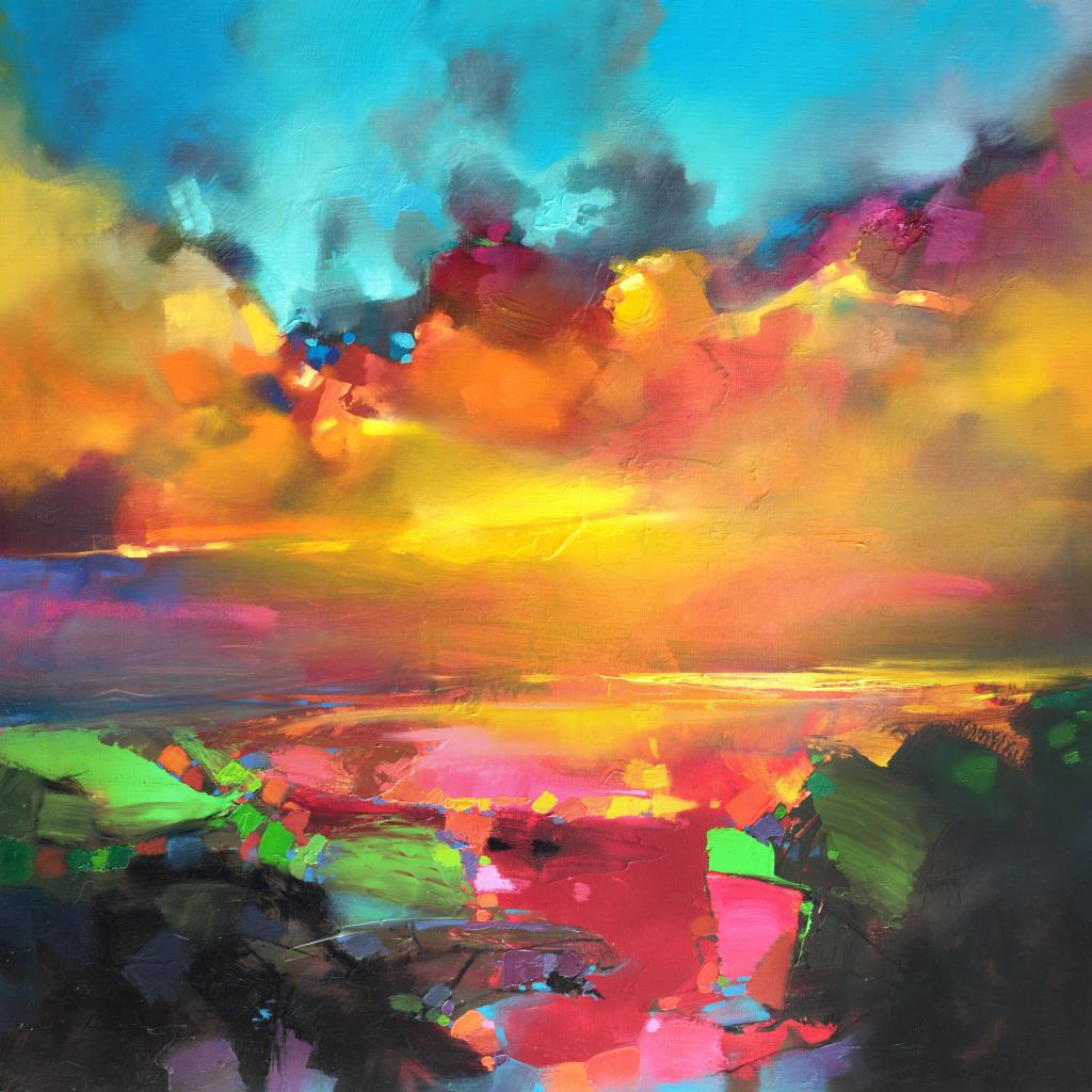 Painted skies scott naismith artsy forager for Abstract nature painting