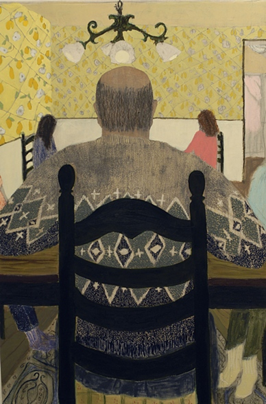 Family Dinner by Giordanne Salley | artsy forager #art #paintings
