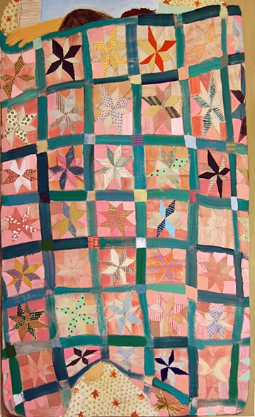 Friends by Giordanne Salley | artsy forager #art #paintings #quilt #love