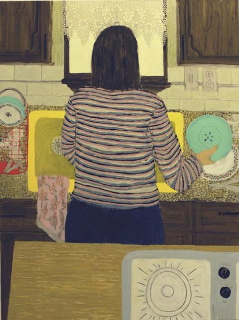 Yellow Sink by Giordanne Salley | artsy forager #art #paintings