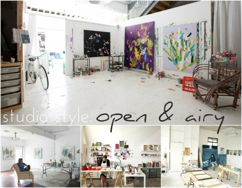 Art studio style open and airy
