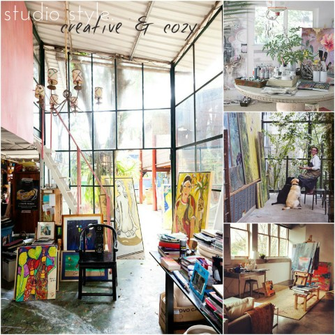 Art studio style creative and cozy