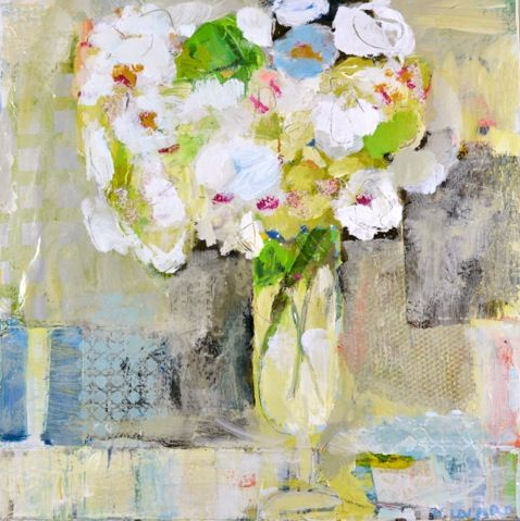 Mixed Bouquet with Blue Stripe by Christy Kinard