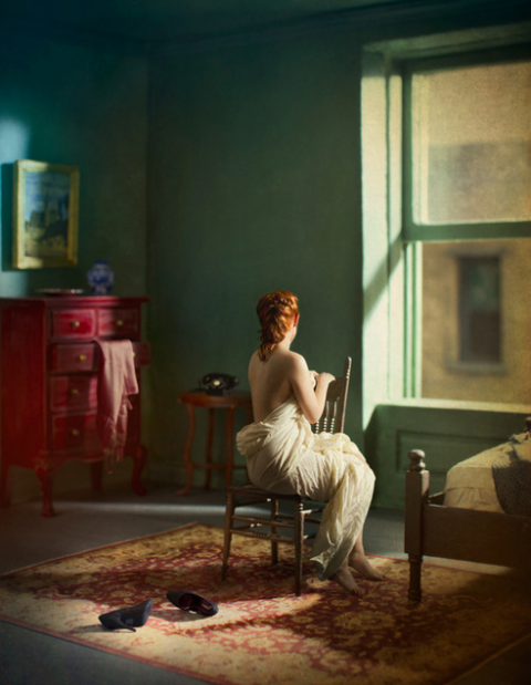 Green Bedroom ( Morning ) by Richard Tuschman