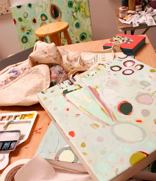 Commission_erin studio paint table