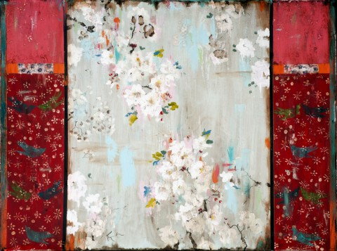 Kathe Fraga | artsy forager #art #artists #mixedmedia #paintings #floral