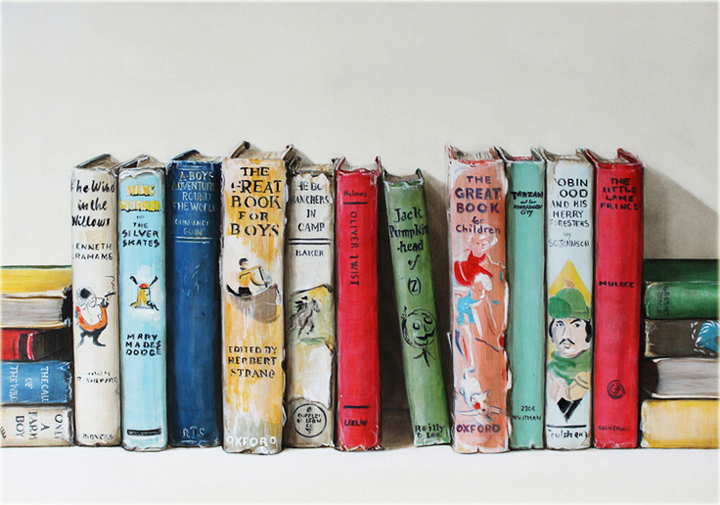 Farrell_Childrens Books II_acrylic and oil on masonite_20x14