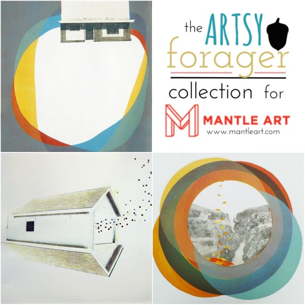 Kelda Martensen, The Artsy Forager Collection for Mantle Art #art #artists #mixedmedia #affordableart #prints