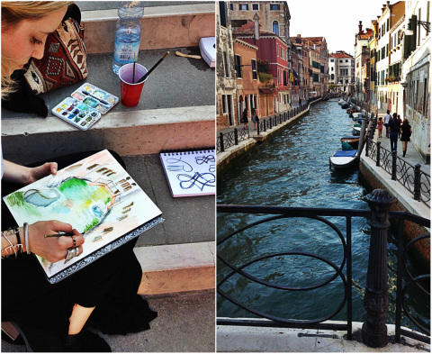 Artsy Abroad. The Bottega in Venice. | artsy forager #art #travel #venice