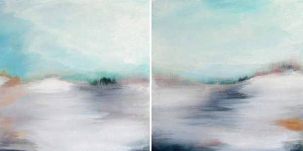 Above Us Only Sky I & II ( diptych ) by Lesley Frenz | artsy forager #art #artists #paintings #abstractart