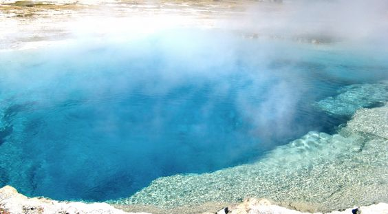 Finding Latitude. Yellowstone Prismatic Pools | artsy forager #art #artists #travel #photography #paintings #yellowstone